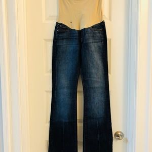 7 For Mankind maternity jeans size 25
